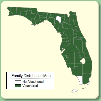 Family Distribution Map